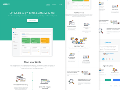 Lattice Web goals illustrations flat ux design ui design web design
