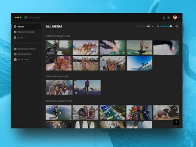 Quik for Desktop share edit branding dark icons desktop app media library gopro