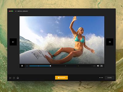 Quik for Desktop App Playback flat playback icons desktop app media library gopro