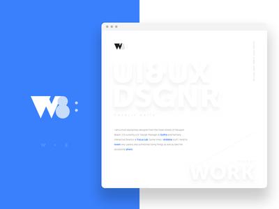 Portfolio Website personal ui design website mark logo branding portfolio