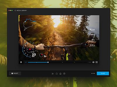 Data Overlays video video editing ui design ux design software speedometer graphs data maps gauges mac app gopro