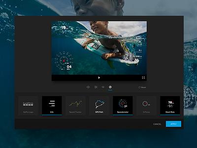 Telemetry Update gopro editor desktop data visualization gauges telemetry icons ui design ux design