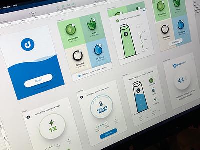 Dropwater iPad Kiosk app design ipad water flat icons ui design ux design