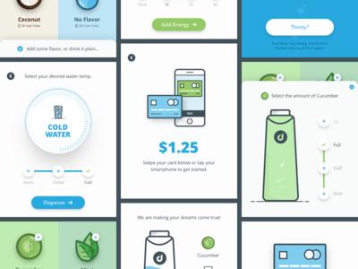 Dw Kiosk payment water ux design ui design ipad icons flat app design