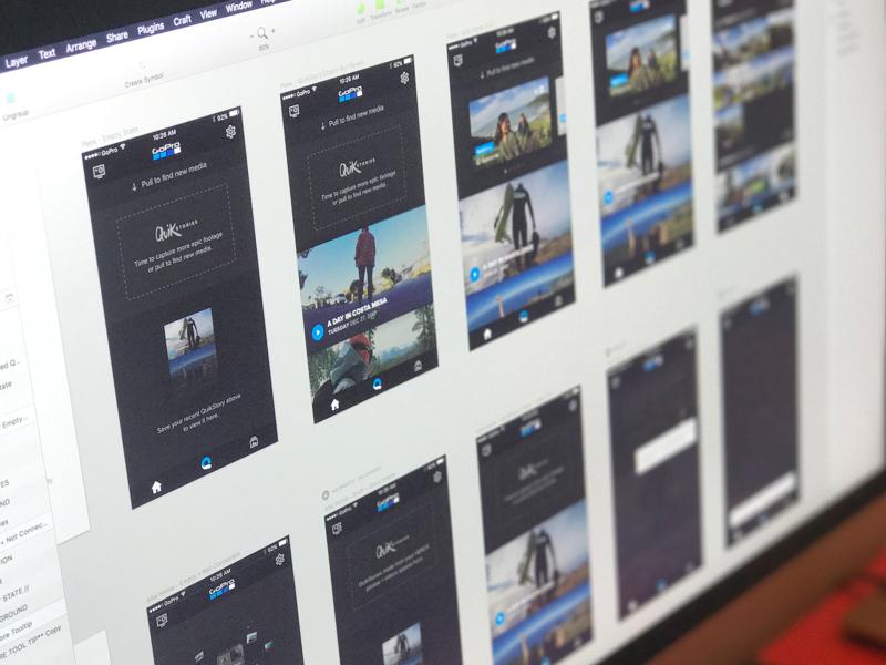 GoPro QuikStories dark icons editing video ui design ux design quikstories gopro