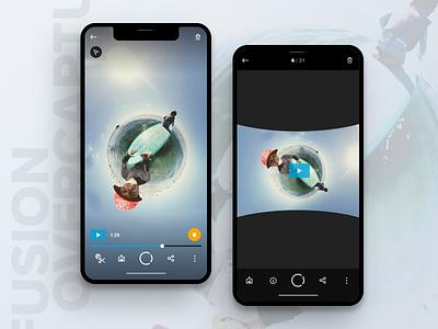 GoPro Fusion Overcapture vr 360 video editing video iphone x dark gopro icons overcapture ios 360