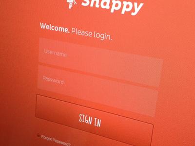 Snappy Login focus lab ui login web design user interface snappy login screen