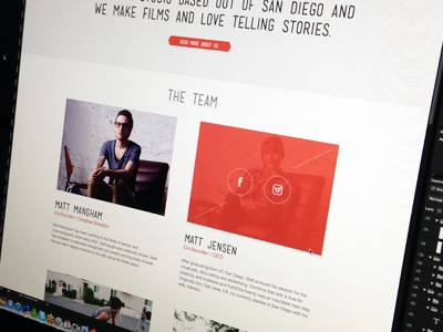 4120 Team Page colorkite web design video hero image website icons