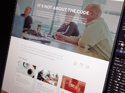 P-Ops colorkite web site home page web design hero image