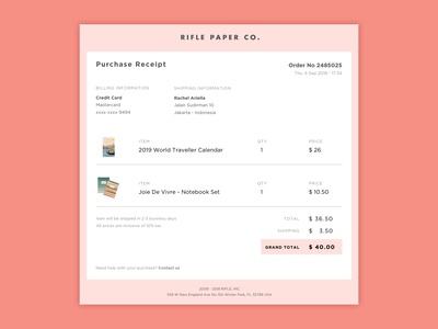 Daily UI 017 - E-Mail Receipt