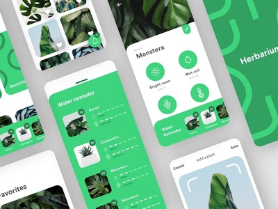 Plants plants plants vector button graphic concept water information reminder notification green plants mobile ios uxdesign uidesign design interface app ux ui