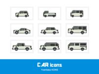 CAR icons - mono