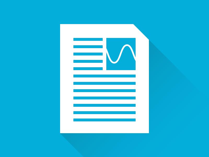 Document wave logo icon flat document long shadow minimalism simple identity branding