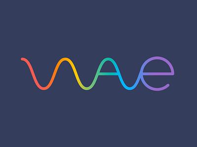 Spectrum flat wave rainbow spectrum logo icon multicoloured