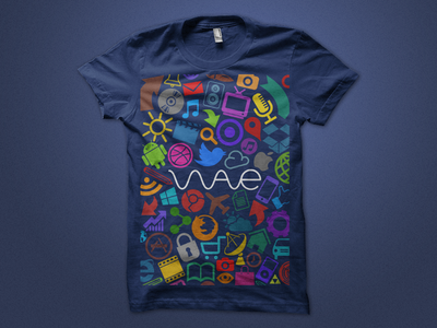 T-Shirt merchandise icons iconography merch logos t-shirt tee icon navy multicolored