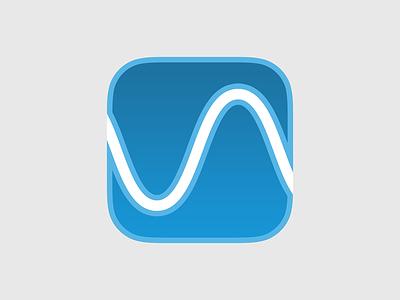 Wave App Icon blue ios7 logo iphone ios wave app icon flat apple