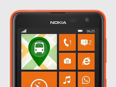 EireBus App Icon nokia irish phone logo orange ireland lumia eirebus app icon windows 625