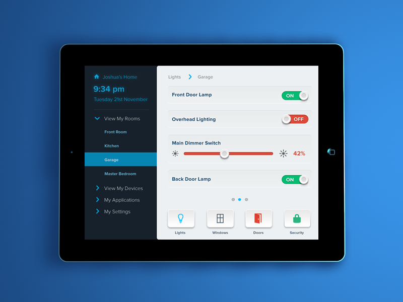 smart house app by alan geraghty dribbble - Design A House App