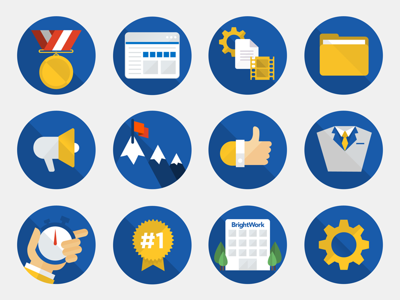 BrightWork Icons brightwork icons sharepoint icon simple illustration microsoft flat vector project management round