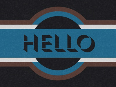 Hello hello there welcome banner typeface hey