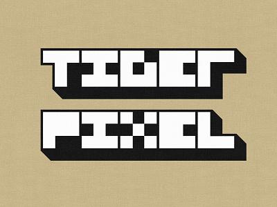 Tiger Pixel tiger pixel tigerpixel tiger pixel personal identity logo minimal type pixelated icon retro