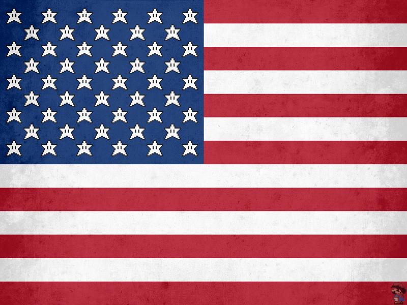 Invincibility Stars & Stripes wii super mario nintendo america obama united states of flag stars and stripes old glory usa super mario bros hope
