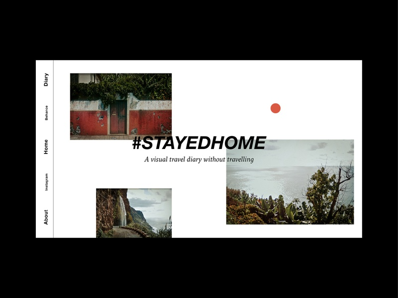#stayedhome Webdesign personal diary street view google maps photography corona stay home stayhome stayedhome front website website design webdesign web travel typography branding and identity design germany hamburg