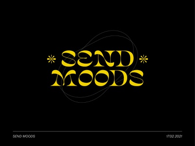 SEND MOODS send moods send moods logodesign font logotype logos personal logo branding branding design typography branding and identity design germany hamburg