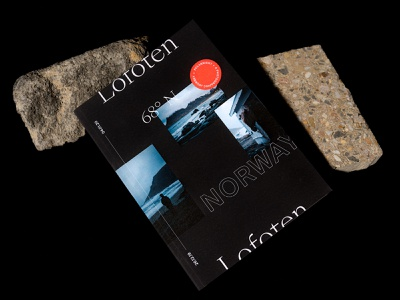 "Personal Photozine ""Lofoten"" a5 cover book typography design hamburg germany layout photography photozine travel norway islands lofoten magazine editorial zine"