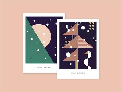 Christmas Cards 2017 cards hamburg weihnachten weihnachtskarten abstract minimal illustration vector tree christmas card card christmas