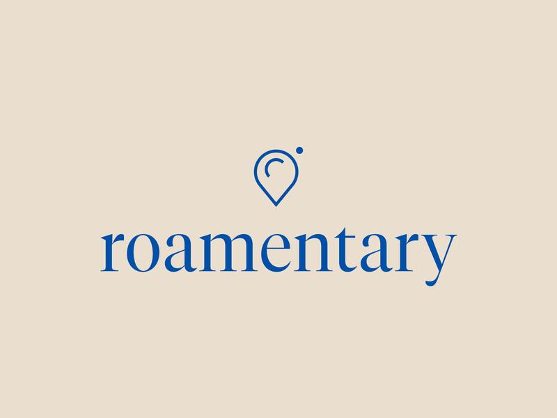 roamentary location branding and identity naming branding concept travel logo serif roamentary typography travel roam momentary photography logodesign logo hamburg branding design germany camera branding