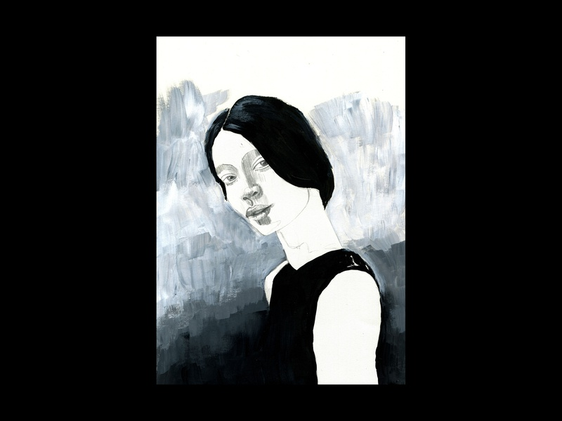 Sketchbook Illustration traditional moleskine drawn drawings page scribbles woman portrait woman blue pencil sketch pencil acrylics painting paint sketchbook sketch drawing illustration germany hamburg
