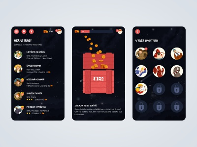 Skryté příběhy / Hidden Stories mobile game game ux design ui design ux ui mobile mobile app design mobile ui mobile design mobile app illustraion design