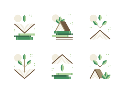 Book icons recycle ecology illustration symbol tree sun green design icon book
