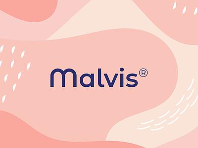 Malvis logo typography vector branding logotype illustration logo design identity brand logo