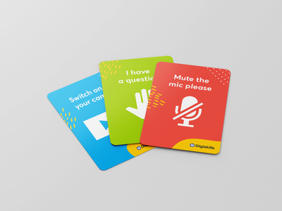 Video conference cards pattern symbol sign product illustration design cards card conference call video