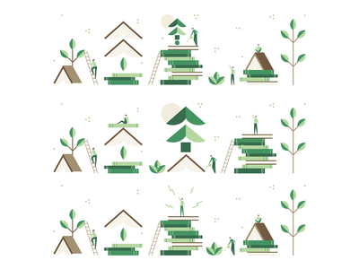Book banners eco recycle green leaf leaves people symbols symbol illustration design web trees tree icons icon banners banner books book