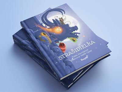Strašidielka book layout illustration cover design book cover book kids children