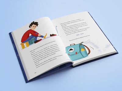 Strašidielka book booklet book cover design kids children illustration layoutdesign layout book