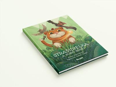 Strašidielka a Bubo-bubo book productdesign booklet design kids illustration kids children book cover layout book