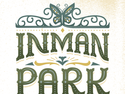 Inman Park UnFestival Poster lettering typography festival graphic design atlanta inman park poster art