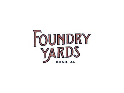 Foundry Yards real estate apartments logotype brand design brand identity