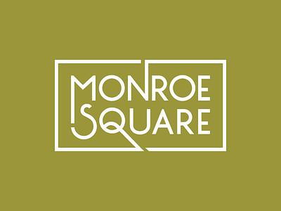Monroe Square Logo descender ascender community townhouse rectangle type logo