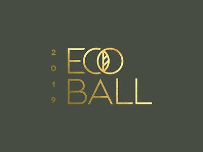 Eco Ball Gold Foil gala ball sage gold leaf eco
