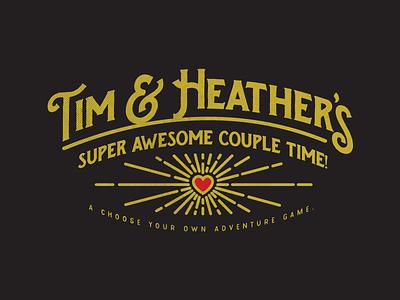 Couple's Game love game retro line heart