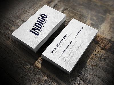 Indigo Business Cards indigo branding restaurant lounge