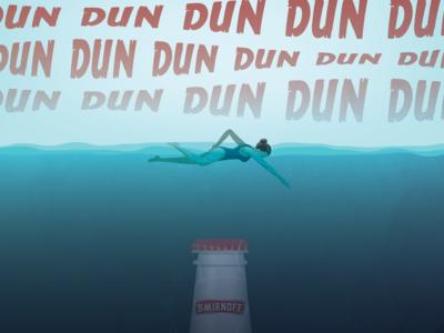Smirnoff Shark Poster