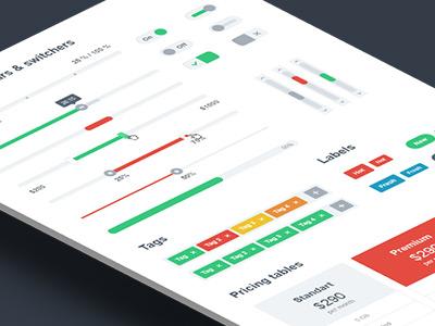 Simple Flat Ui Kit 1.0 ui kit flat user interface customizable pack web simple elements modern minimalistic clean