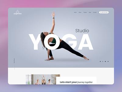 Yoga Studio Website Template creative design creative template minimal yoga