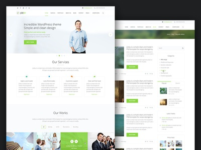 Joeby responsive one page business html template by alexander joeby responsive one page business html template accmission Image collections